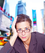 Fed-up businesswoman — Stock Photo