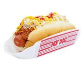 Chili dog — Stock Photo