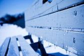 Frozen bench — Stock Photo