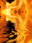 Fire reflection — Stock Photo