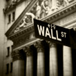 Wall Street sign — Stockfoto