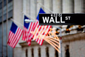 Wall street tecken — Stockfoto