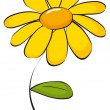 Daisy clip art — Stock Vector