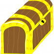 Stock Vector: Treasure chest vector clip art