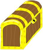 Treasure chest vector clip art — Stock Vector