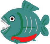Piranha vector clip art — Stock Vector