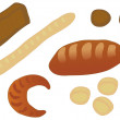 Royalty-Free Stock Vector Image: Set of bread