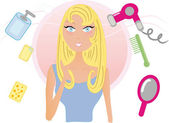 Beauty treatment — Stock Vector
