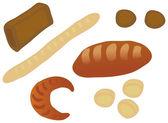 Set of bread — Stock Vector