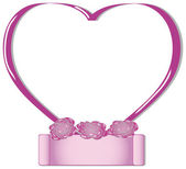 Pink valentines heart frame — Vettoriale Stock