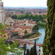 Panoramic view of Verona, Italy - Stock Photo
