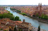 Panoramic view of Verona, Italy — Stock Photo