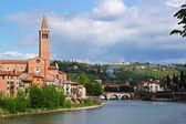 Verona along the river Adige, Italy — Stock Photo