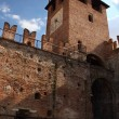 Stock Photo: Tower of clock of old Castle in Verona, Italy