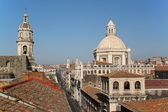 Cityscape and Cathedral of Catania, Italy — Stock Photo
