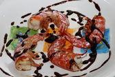 Camarões com vinagre balsâmico — Foto Stock