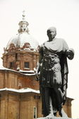 Rome covered by snow — Stock Photo