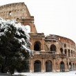 Coliseum covered by snow — Stok Fotoğraf #8870398