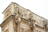 The Arch of Constantine covered by snow — Stock Photo