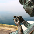 Bronze statue of seamstress — Stock Photo #9814272