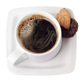 A cup of hot coffee — Stock Photo