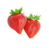 Zwei erdbeeren — Stockfoto