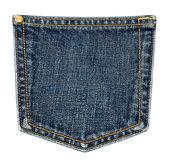 Bolso da calça jeans. — Foto Stock