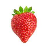 Heart-shaped strawberry — Stock Photo