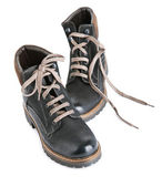 Boots with laces — Stock Photo