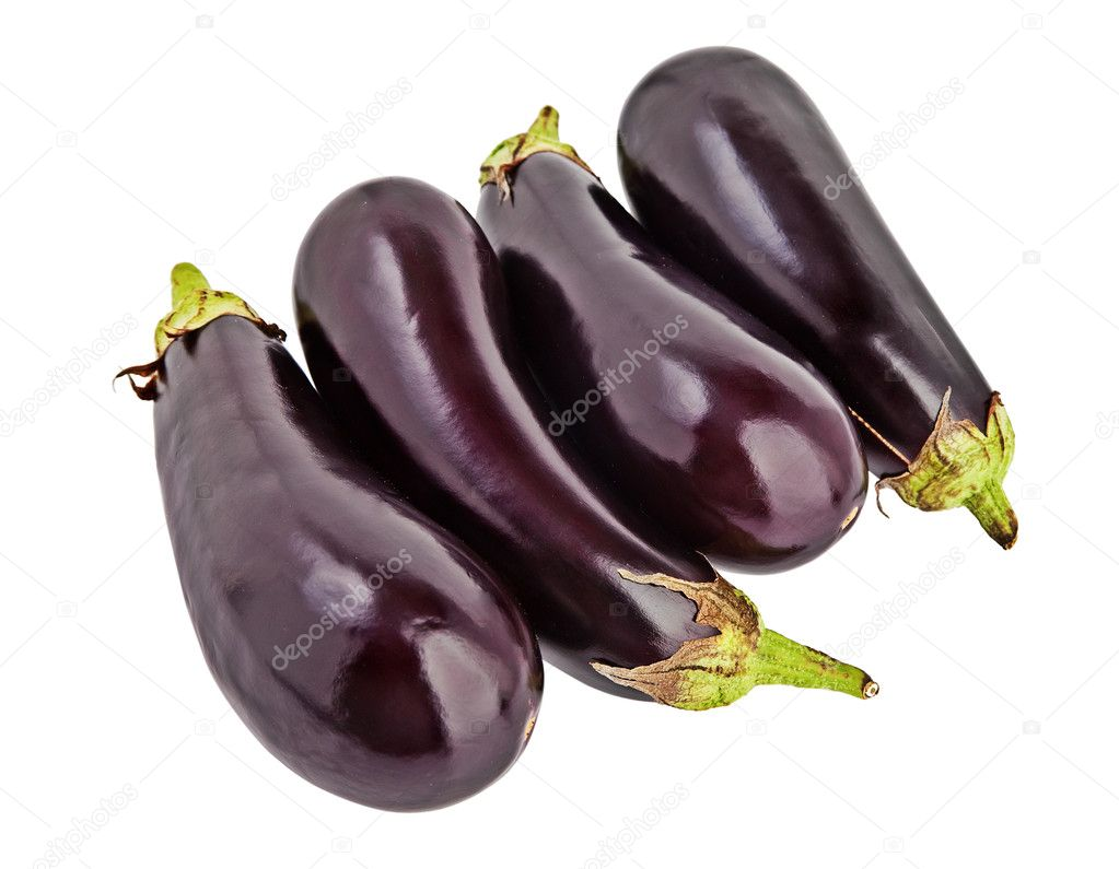 Eggplant isolated on white.  — Stock Photo #8856641