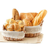 Breads in a basket — Stock Photo