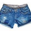 Denim shorts - Stock Photo