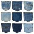 Stock Photo: Different jeans pocket