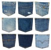 Bolso jeans diferente — Foto Stock