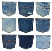 Different jeans pocket — Stock Photo