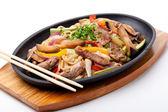 Udon con carne di manzo — Foto Stock