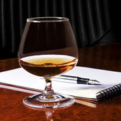 Glass of Cognac — Stock Photo