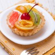 Fruit dessert tarts — Stock Photo