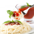Spaghetti whit tomato sauce — Stock Photo #8457092