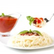Spaghetti whit tomato sauce — Stock Photo #8457096
