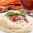 Spaghetti whit tomato sauce — Stock Photo #8457117