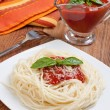 Spaghetti whit tomato sauce — Stock Photo #8457136