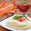 Spaghetti whit tomato sauce — Stock Photo #8457152