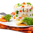 Rice and vegetables — Foto Stock