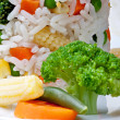 Rice and vegetables — Stock Photo #8547908