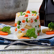 Rice and vegetables — Stock Photo #8547976