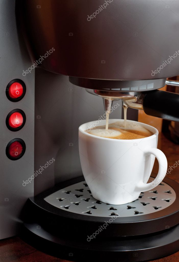 Hot espresso  coffee in a White Cup — Stock Photo #8546625