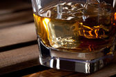Glass of scotch whiskey — Stock Photo