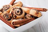 Pinwheel cookies with cinnamon — Stock Photo