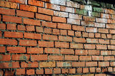 Grunge brick red wall — Stock Photo